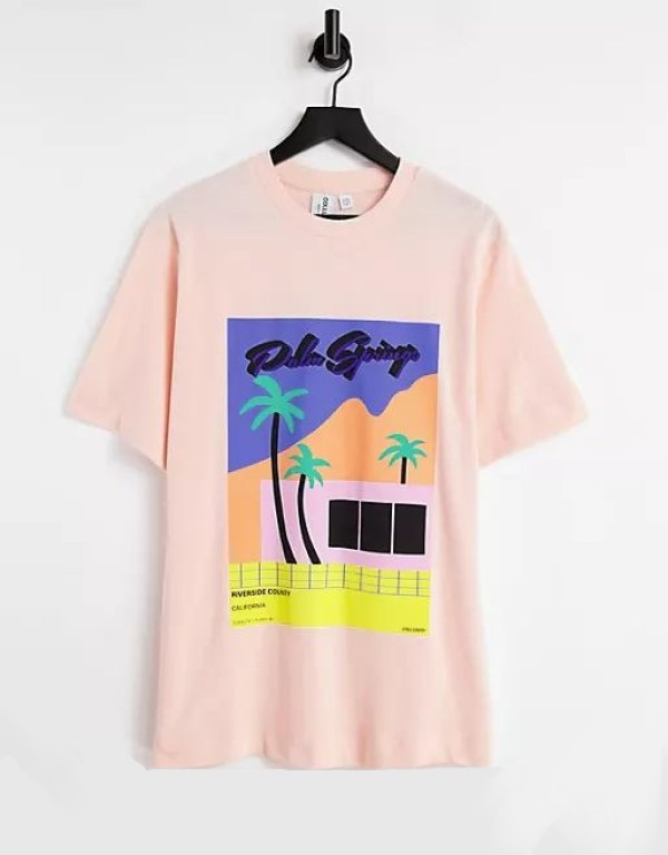 ASOS COLLUSION Palm Springs Oversized Pique T-Shirt