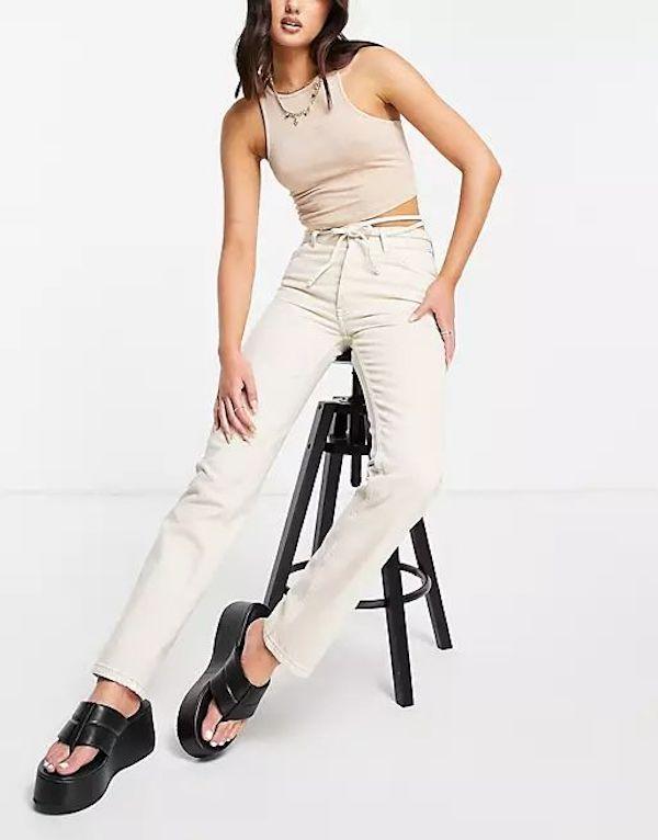 ASOS Mid-Rise Straight-Leg Jeans