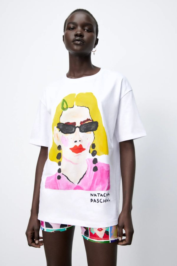 Zara Natacha Paschal Print T-shirt