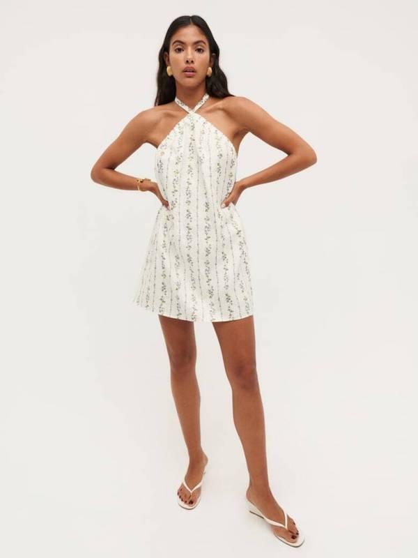 Reformation Maui Linen Dress