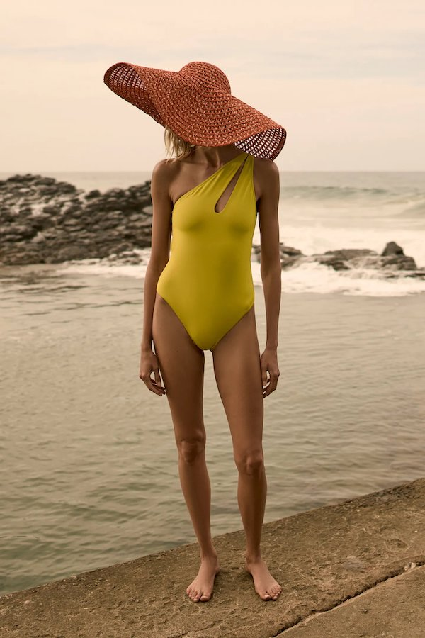 Zara Asymmetric Cut-Out Swimsuit