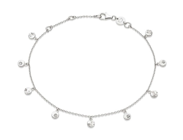 Isla Shell Charm Anklet Sterling Silver Daisy Jewellery