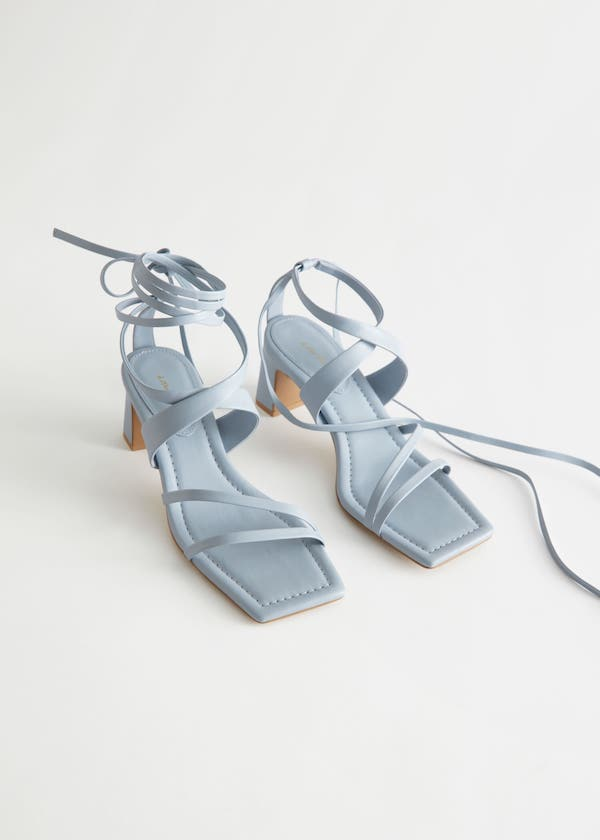 & Other Stories Block Heel Strappy Leather Sandals