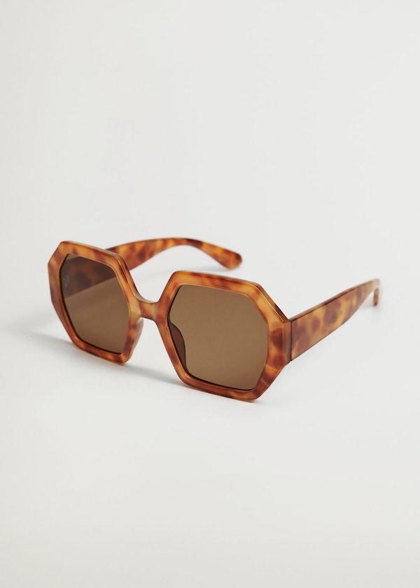 Mango Tortoiseshell Oversize Sunglasses