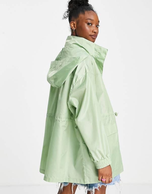 ASOS DESIGN four pocket chuck on rain jacket in mint