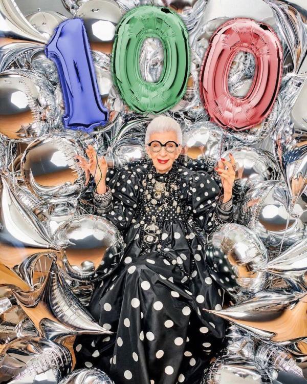 Iris apfel celebrating turning 100