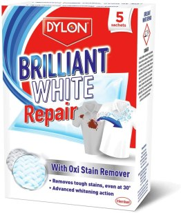 DYLON White 'N' Bright + Oxi Stain Removal Pack of 5! Tackle Stains & Brighten Whites! AS SEEN ON TV!!!
