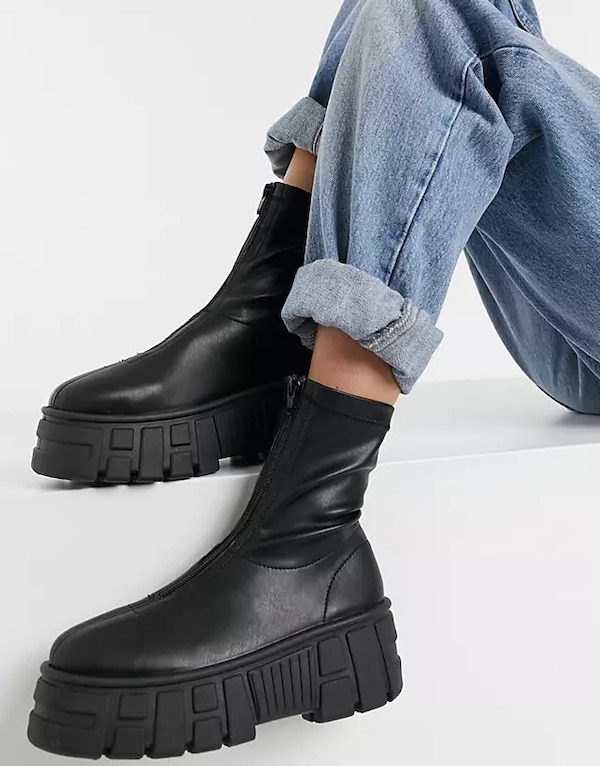 ASOS Absolute Chunky Zip Front Boots