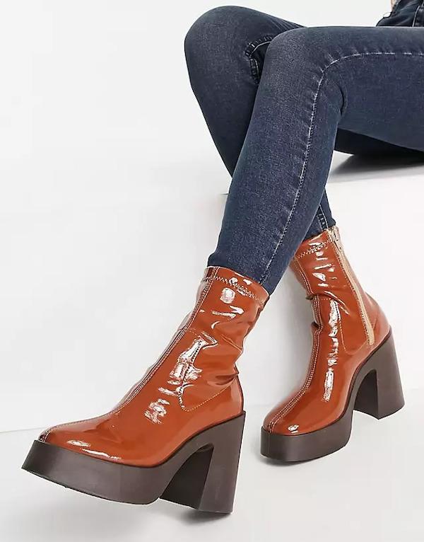 ASOS Elsie High-Heeled Sock Boot