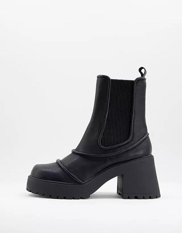 ASOS Reason Chunky Mid-Heel Boots