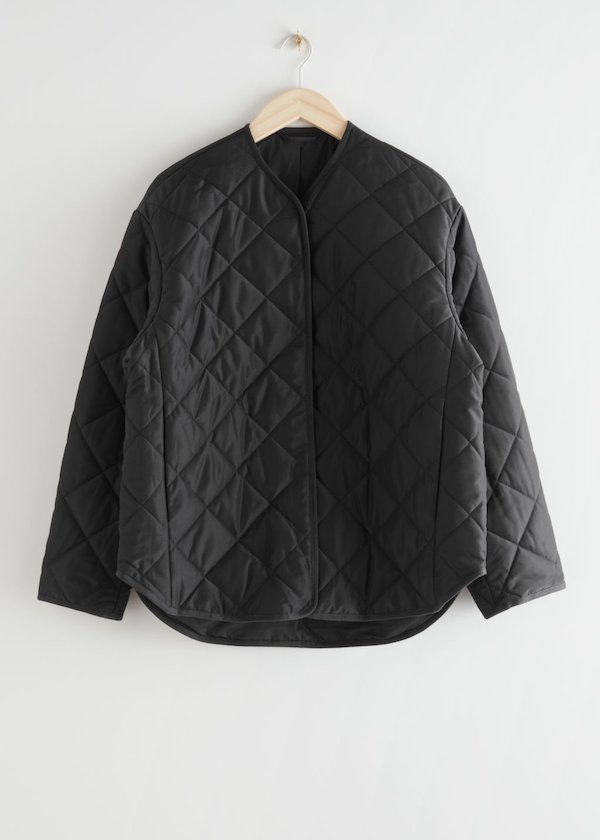 & Other Stories Oversized Quilted Jacket