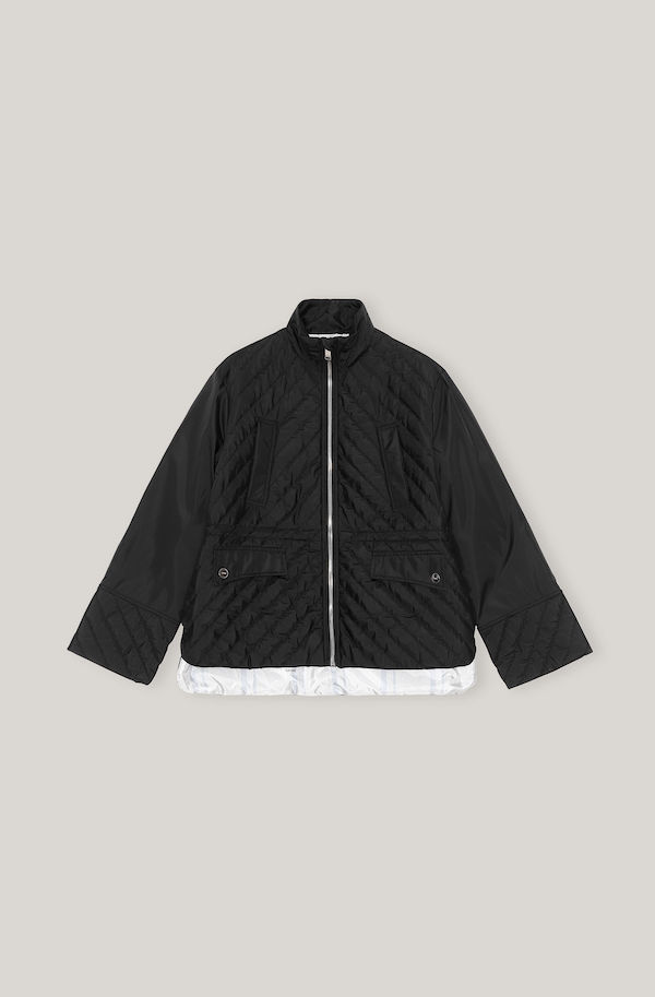 Ganni Recycled Ripstop Quilt Jacket