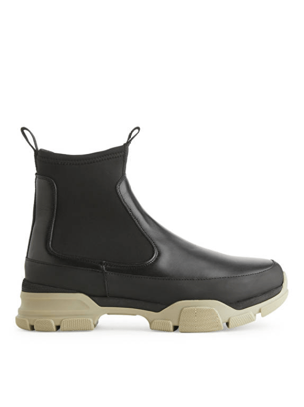CHROME-FREE TANNING Sporty Chelsea Boots Arket