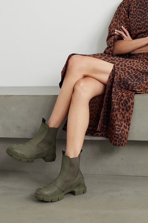 GANNI Army Green Rubber Boots