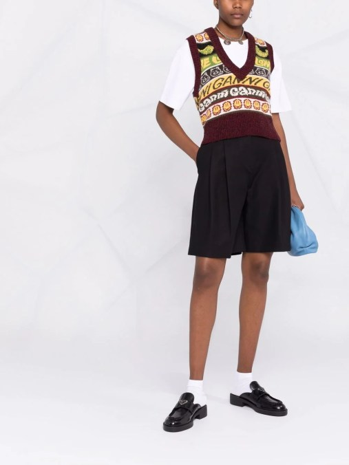 Knitted Vest Top, £155, GANNI at Farfetch