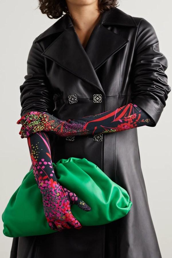 Printed stretch gloves, £180, Dries Van Noten from Net-a Porter