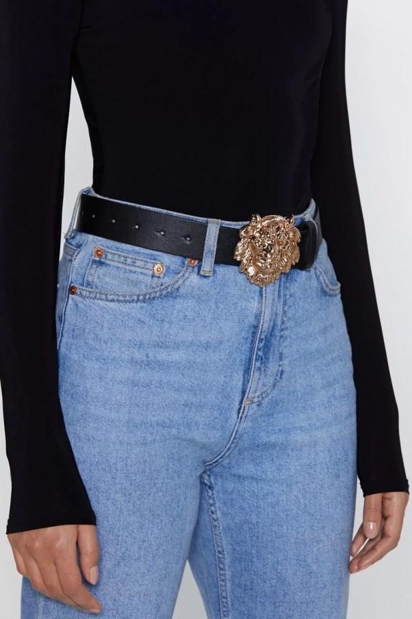 Lion buckle belt, £4.80, Nasty Gal