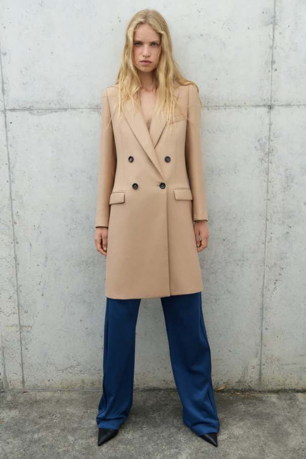Straight masculine coat, £99.99, Zara