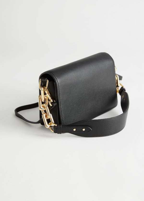 & Other Stories Chunky Chain Leather Bag
