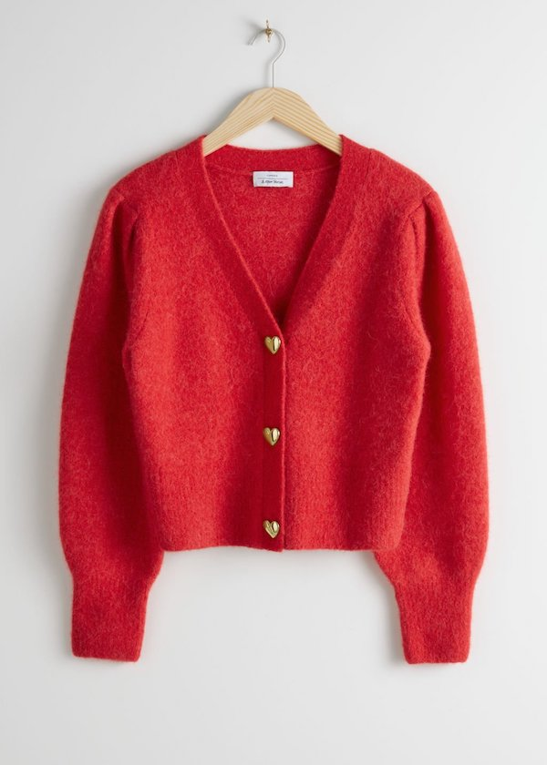 Playful Button Knit Cardigan