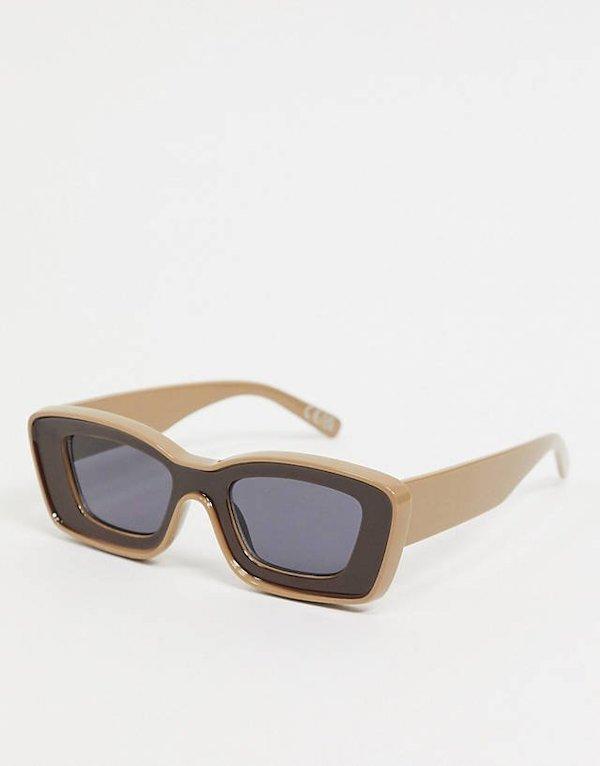 ASOS Design Chunky Frame Bevel Sunglasses