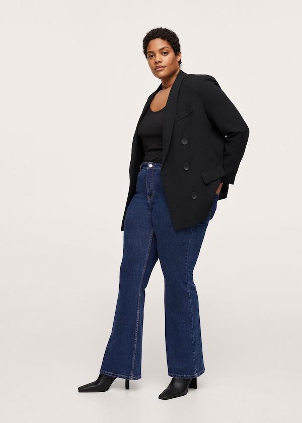 Mango Flared Jeans in Dark Blue
