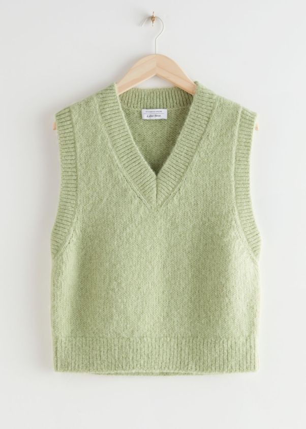 Oversized wool sweater vest, £65, & Other storie