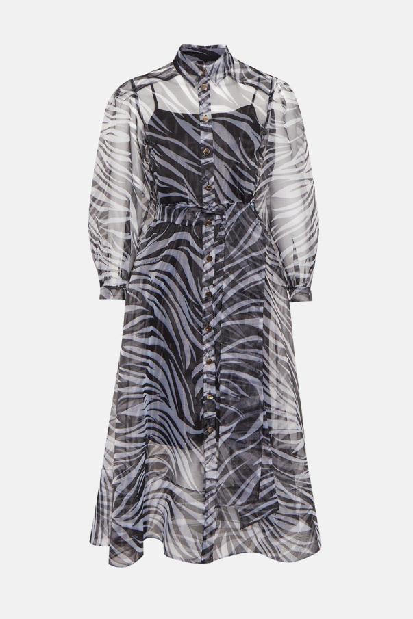 Zebra printed organza dress coast