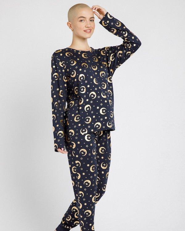 Moonlight Classic Foil Pyjama Set Chelsea Peers
