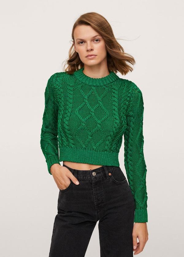Metallic Knit Sweater Mango