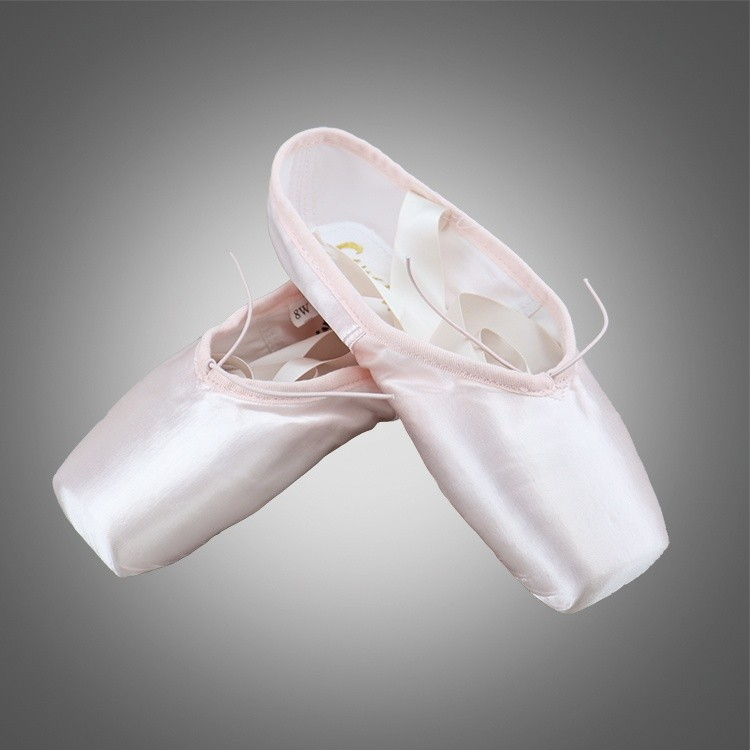 Satin Ballet Pointe Shoes for Dancing