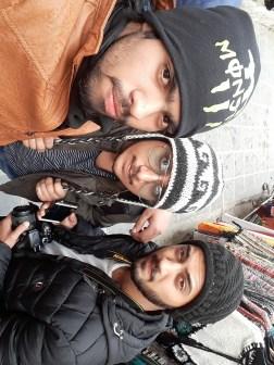 Jaspreet Singh with friends