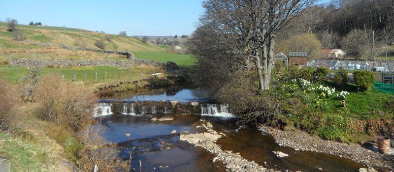 Waterfall on River Wear, Wearhead