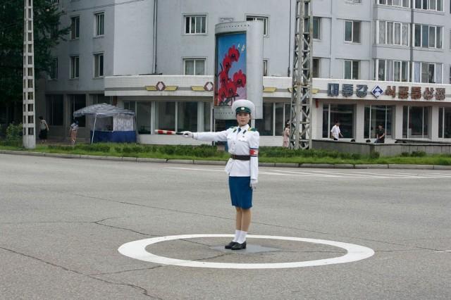 Women Working in North Korea - Parking
