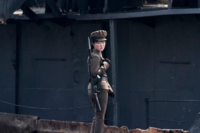 Women Working in North Korea - Soldier