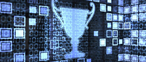digital illustration of an award trophy