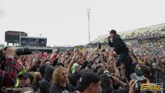 A crowd of 40,000 gathers at MAPFRE Stadium for Rock on the Range.