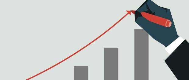 fast growing business - bar graph rising