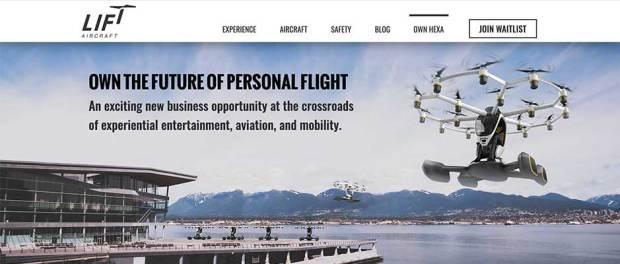 LIFT Aircraft - Hexa