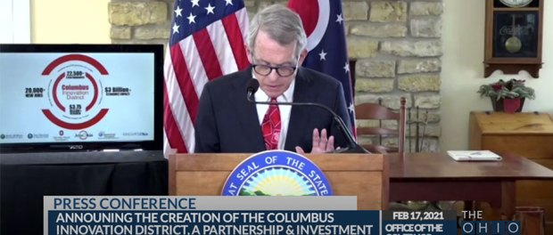 Ohio Governor Mike DeWine announces the creation of the Columbus Innovation District, a unique partnership and investment to drive innovation and job creation in Ohio.