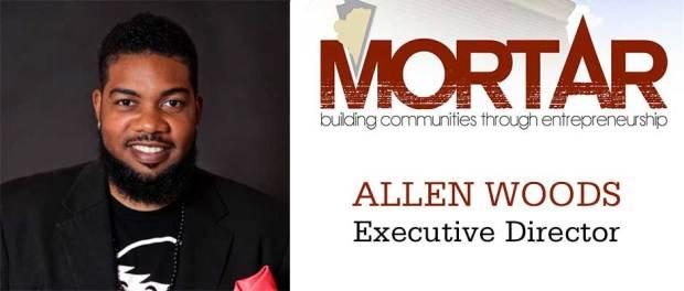 Allen-Woods-Exectuvie Director of Mortar - logo and headshot of Allen