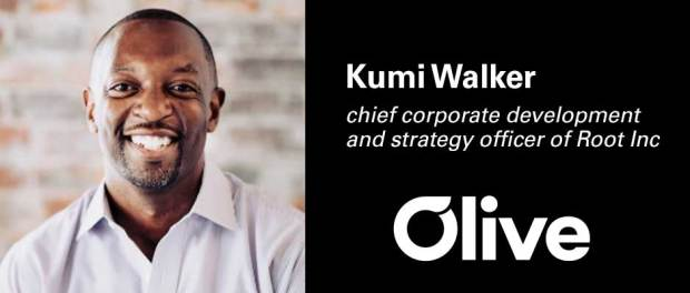 Kumi Walker, chief business development and strategy officer at Root Inc., has joined the board of Olive AI