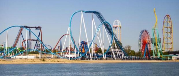 Cedar-Point-rollercoasters wide view