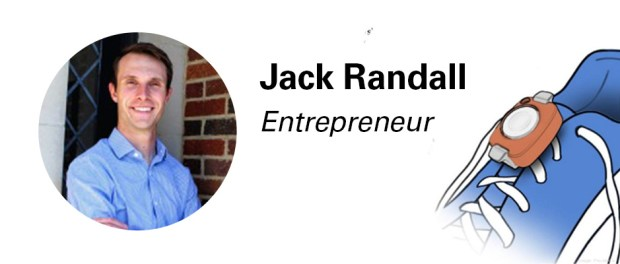Jack Randall - entrepreneur and inventor of Zoza, a small, wearable device can be strapped to a shoe