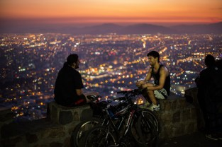 One of the great things to do in Santiago is to ride to the top of Cerro San Cristobal at sunset. From the summit there are incredible views of the entire city.