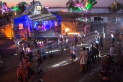 Dala Bil's creation Juke Town looked like an old west town and featured a little bit of house, psytrance and a lot of bass.
