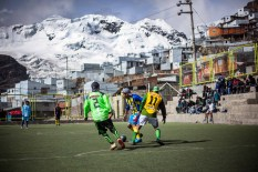 Playing on the highest pitch in the world, the miners of La Rinconada have put together a rag tag soccer team.