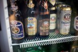 Imported German beer at the local market.