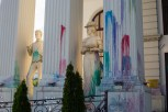 Protesters threw paint filled balloons at government buildings, statues and monuments. The colors have been left as a constant visual reminder of the corrupt government.
