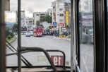 Crawling through the streets of Skopje is a fleet of new Chinese knockoffs of London's classic Routemaster double decker busses.